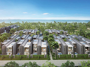 Houses Developing Project in Na Jomtien, Pattaya